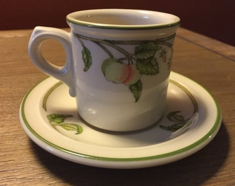 Wedgewood Wild Apple cup and saucer