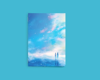Your Lie in April Notebook, Blank Notebook, Anime Notebook, Pocket Notebook, Shigatsu wa Kimi no Uso, Sketchbook