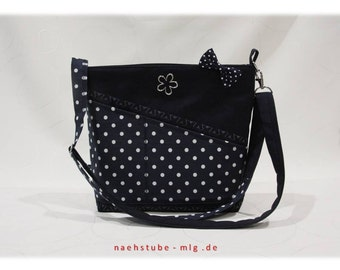 White shoulder bag blue,