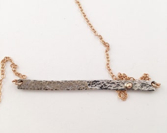 Silver and Brass Bar Necklace