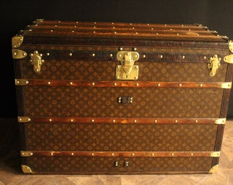 1920's Extra Large Louis Vuitton Steamer Trunk