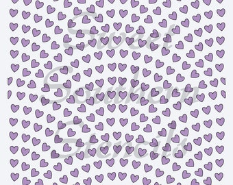 Fanned Out Hearts Pattern Stencil