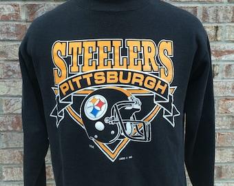 Vintage Pittsburgh Steelers Large Crewneck Sweatshirt