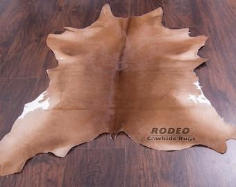 Exotic Tan Rodeo Calf skin approx 3x3 ft ---C4