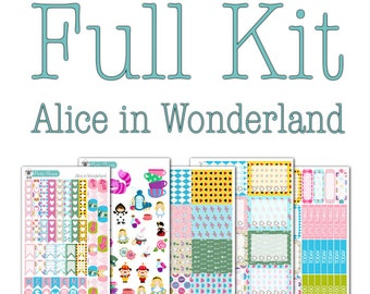 Alice in Wonderland Collection - Disney Planner Stickers