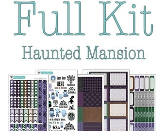 Haunted Mansion Collection - Haunted Mansion Planner Stickers - Disney Planner Stickers
