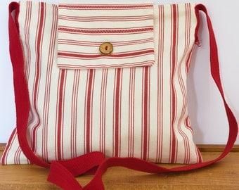Fabric Messenger Cross Body Bag.