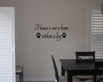 A house is not a home wall art