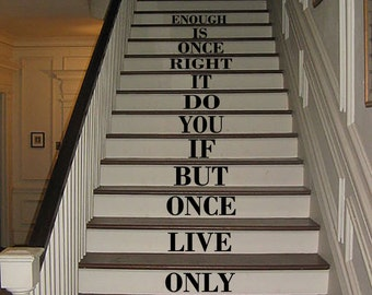 YOLO stair stickers