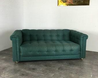 Chesterfield Sofa, Tufted Sofa, Mid Century Modern Sofa, Vintage Sofa, Retro Sofa, Vintage Couch, Mid Century Modern Couch, Loveseat Sofa