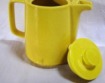50s - 60s Yellow Melitta Pot Minden / Ceramic + Enamel / Rarity !!!