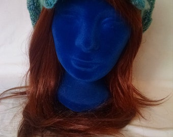 Blue and Green Newspaper boy hat