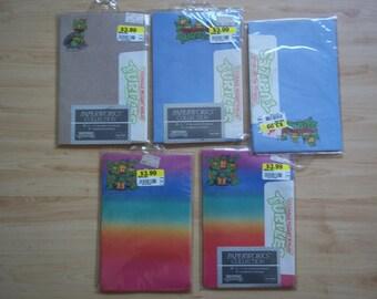 Vintage 1990 Teenage Mutant Ninja Turtles Paper Lettersheets and Coordinating Envelopes