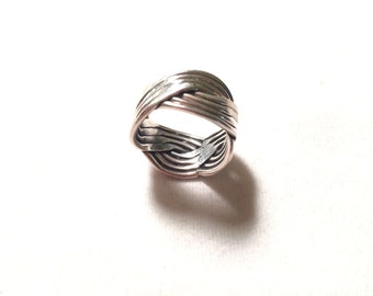925 sterling silver wiring style ring
