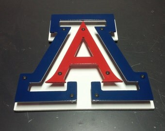 "Univeristy of Arizona (UofA) Metal Sign - 12"" x 12"""