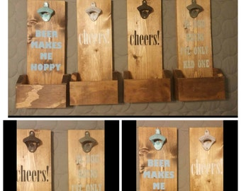 BOTTLE OPENER SALE!!! 40% off regular price. We have one of each design available. ---free shipping---