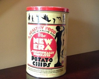 Vintage New Era Potato Chips Can - Vintage Can