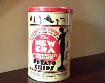 Vintage New Era Potato Chips Can - Vintage