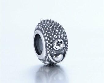 sterling silver charm for bracelets fits authentic pandora and european bracelets hedgehog