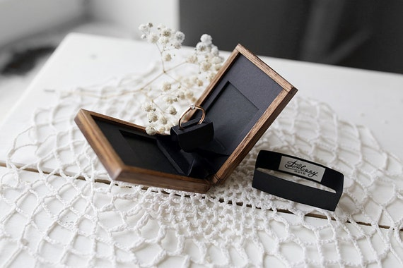 wooden ring box unique engagement ring box made by