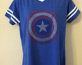 Captain American Rhinestone shirt