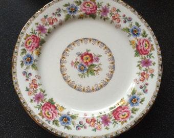 Vintage A B J Grafton, Royal Grafton, MALVERN Beakfast/Salad/Buffet Plate - Fine Bone China - Made in England