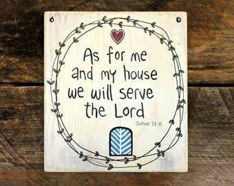 As for me and my house we will serve the Lord, Scripture art, Wood signs sayings, Bible verse wall art, Bible verse on wood, Joshua 24:15
