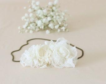 Bridal hair accessory / flower Crown / headband / wedding - model Anna