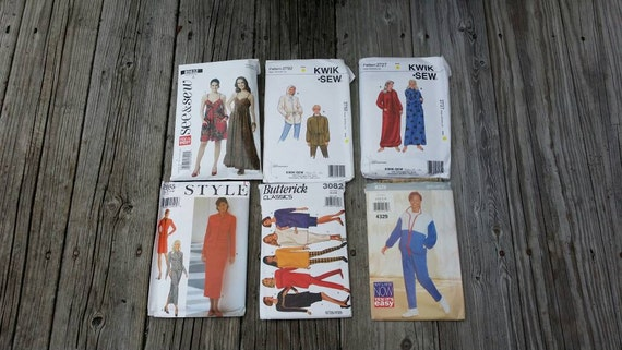 Set of Sewing Patterns, Craft Patterns, See and Sew patterns, Kwik Sew Patterns , Butterick pattern,   Sewing Supplies, Craft Supplies