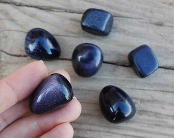 Blue Goldstone loose gemstones