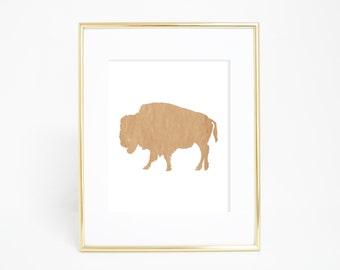 Rustic Print, Buffalo Print, Bison Art Print, Printable Wall Print, Buffalo Art, Rustic Wall Art, Home Decor, Digital Wall Print