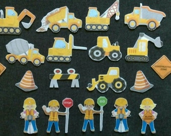 Construction Felt Board Set // Flannel Board // Imagination // Children // Preschool //