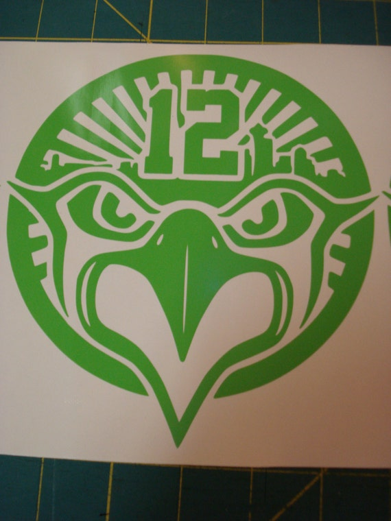 Large 6X6 Seattle Seahawks Bird Logo 12th Man by ...