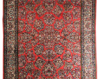 710x1010 vintage persian sarouk home decor area rug 8x10 handmade