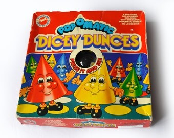 1974 Vintage Dicey Dunces Pop-O-Matic Game Like Frustration Headache Ludo Retro 70s Childhood Nostalgia Vintage 1970s Family Game