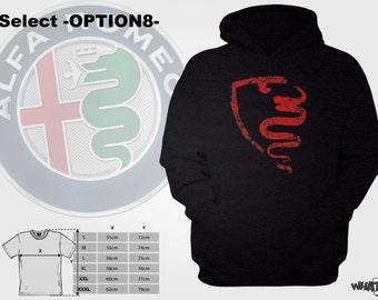 Christmas Present Alfa Romeo Alfisti Logo Cuero Sportivo Designs long sleeved hoodie Italian Car Market