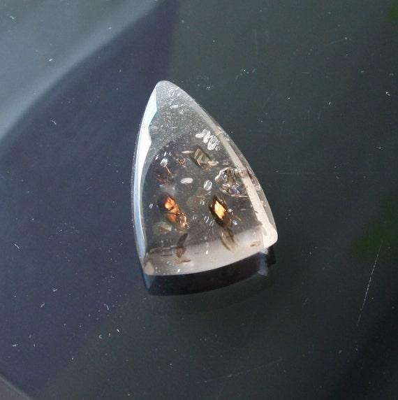 Quartz With Gold Inclusions : Rare unique smoky quartz with inclusions