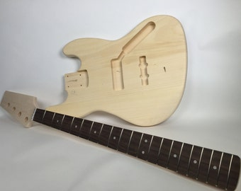 Do It Yourself DIY Electric Bass Guitar Kit J-Bass Style Build Your Own