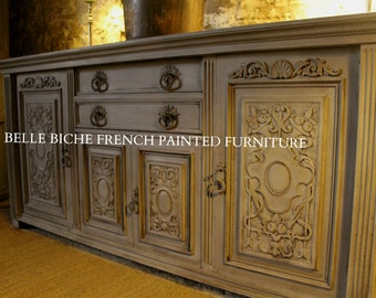 SOLD *** Similar Piece en-route*** Capacious Antique French Carved Oak Sideboard Buffet Server