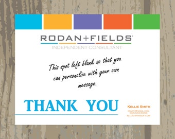Custom Rodan + Fields Thank You Cards Postcard Printed or Digital Upload One Sided Postcard