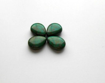 4 Opaque Turquoise Picasso Czech Glass Beads, 16x12mm Czech Teardrops, Beads, Supplies, Jewelry Making, Jewelry Supplies, Craft Supplies