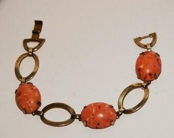 """Vintage 1950's Sterling 7"""" Long Bracelet."""