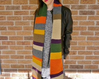 Functional Dr. Who Scarf (medium length)
