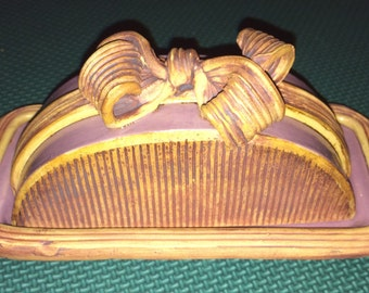 Pottery Rustic,Butter Dish,Ceramic Butter,Hawaii Pottery,Handmade Butter,Hawaii Kitchen,Rustic Pottery,Butter Server,Handmade Pottery