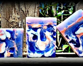Beautiful Shea Butter Soap/Energy scented soap with Hemp seed oil and Vitamin E/Invigorating Soap