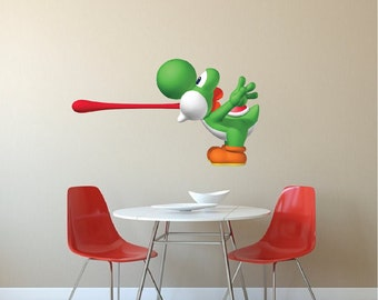 Yoshi Vinyl Wall Decal, Mario Decals Stickers, Laptop Decal Stickers, Nintendo  Wall Decal