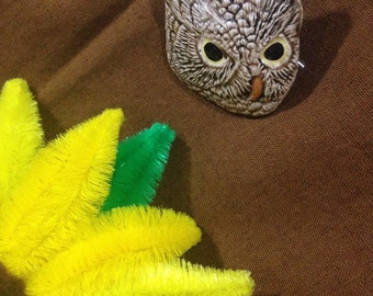 Vintage Owl Refrigerator Magnet