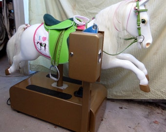 My Pretty Pony Coin Operated Horse ...English Saddle or Western Saddle