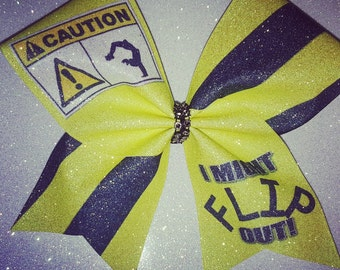 Cheer Bow-I MIGHT FLIP OUT