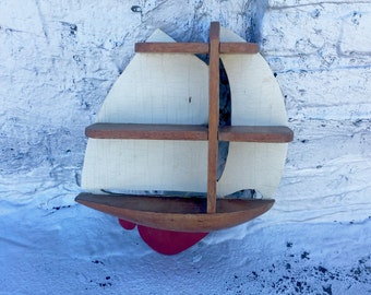 Vintage Sailboat Shelf/Wall Decor